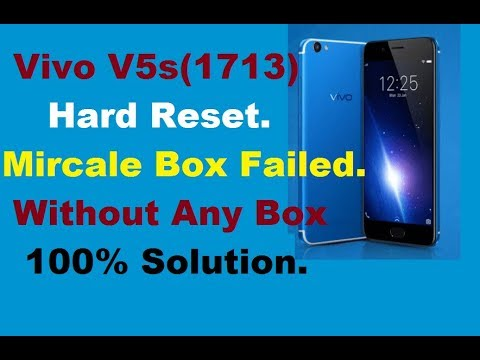 Vivo V5s (1713) Pattren Unlock,Without Any Box,Mircale Box Failed,100%  Solution, by Mobile Software Jugaad