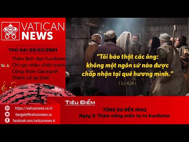Radio: Vatican News Tiếng Việt thứ Hai 08.03.2021