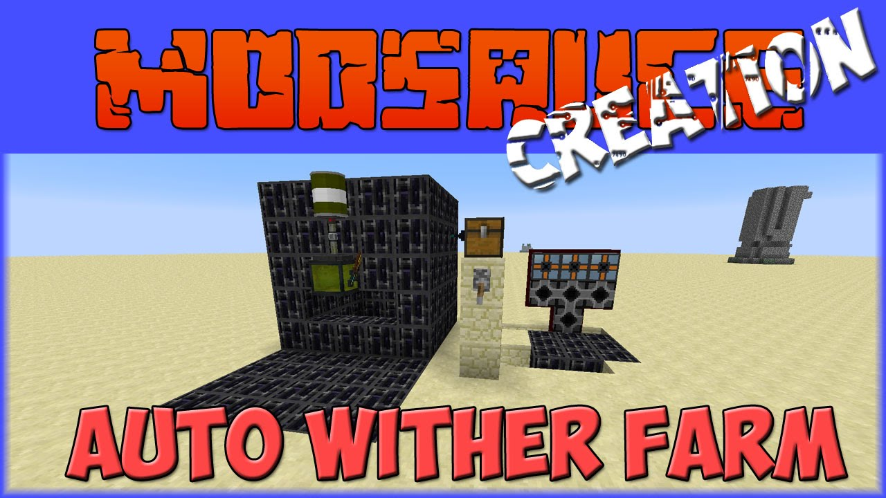 Auto Wither Farm Spawner/Killer - Modsauce Creations - YouTube