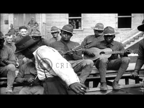 Recruits play in a band and dance at Fort George G Meade in Maryland, United Stat...HD Stock Footage