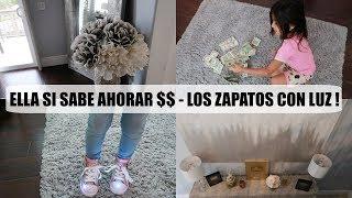 ELLA SI SABE AHORRAR $$ 💸- LOS ZAPATOS DE LUCES DE ORI 👟- MI CUARTO TAN CHULO ! - Vlogs