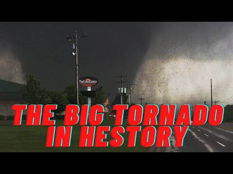 The most powerful tornado in recent times, the F5 tornado