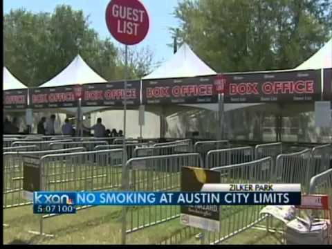 'No smoking' signs at ACL Music Festival