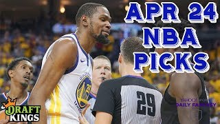 4/24/19 NBA DraftKings & Yahoo Picks (Playoffs Round 1)
