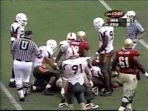 2001 #1 Miami at #13 Florida State 1 of 1