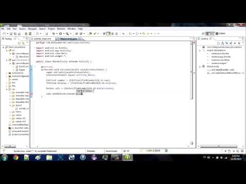 Android Eclipse Tutorial #1 - Building an App From Scratch