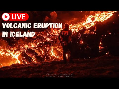Live volcanic eruption in Iceland! - Saturday 5th - FLOcam