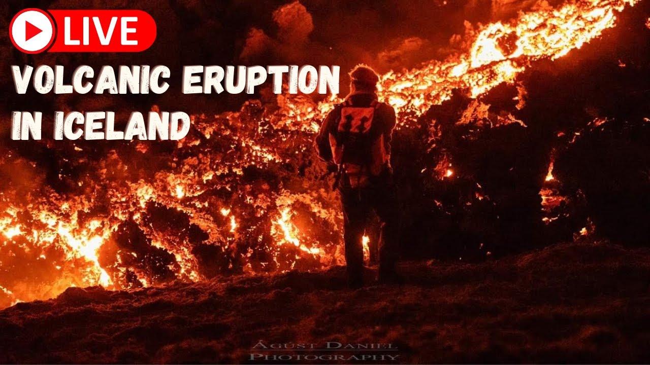 Live volcanic eruption in Iceland! – Wednesday 2nd – FLOcam