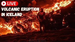 Volcanic eruption in Iceland! Live - Monday 19th - FLOcam