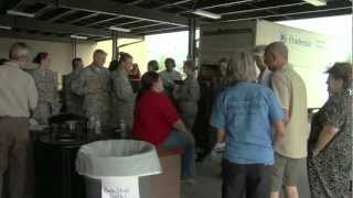 Air Force Space Command volunteers at Care & Share Food Bank