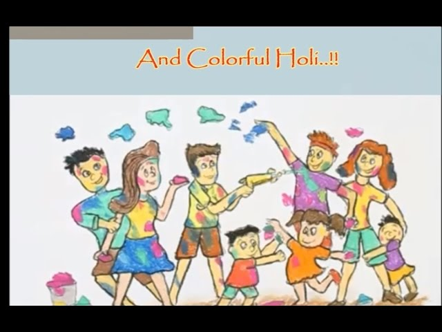 Happy Holi wishes | Holi Greetings 2015 | Awesome Animation