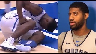 Paul George REACTS To Zion TEARING His PG Nikes: LeBron Explains He WON'T Comment On Zion's Future