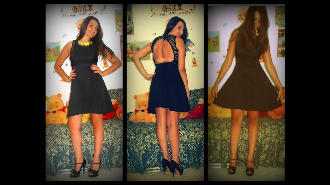 0b415dfdbc Outfit in sexy black dress and yellow ft rosewe.com - YouTube