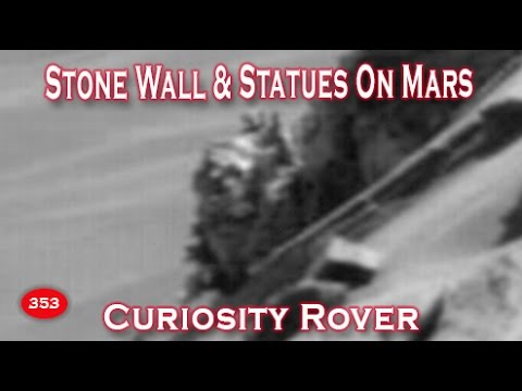 Destroyed Stone Wall / Building & Statue Found On Mars ...
