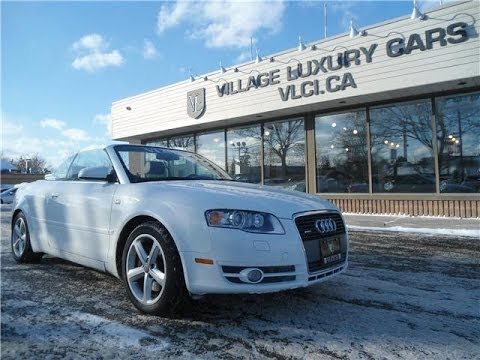 2007 Audi A4 3 2 Cabriolet In Review Village Luxury Cars Toronto
