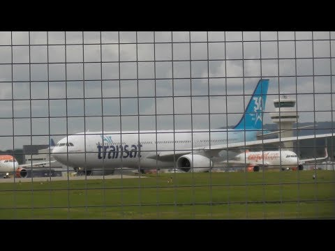 Strong Crosswinds at London Gatwick Airport, LGW 20/7/17
