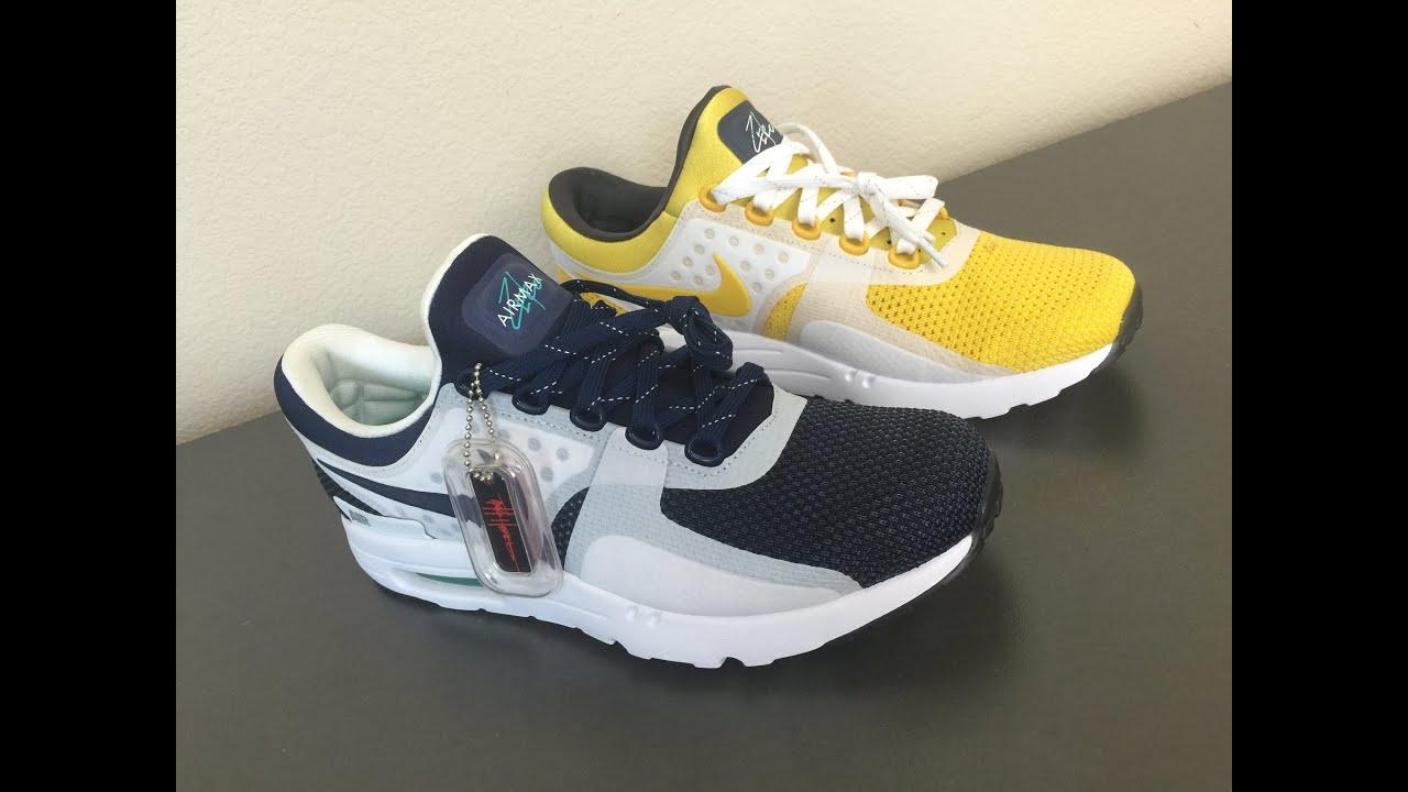 Comparison: The Nike Air Max Zero