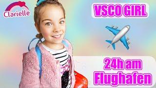 24h am Flughafen | VSCO Girl fliegt nach London | Clarielle