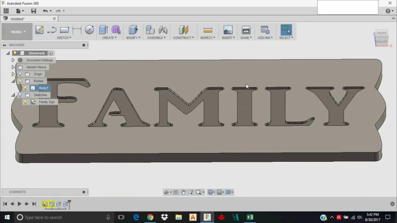 Fusion 360 DXF Import Tutorial MillRight CNC