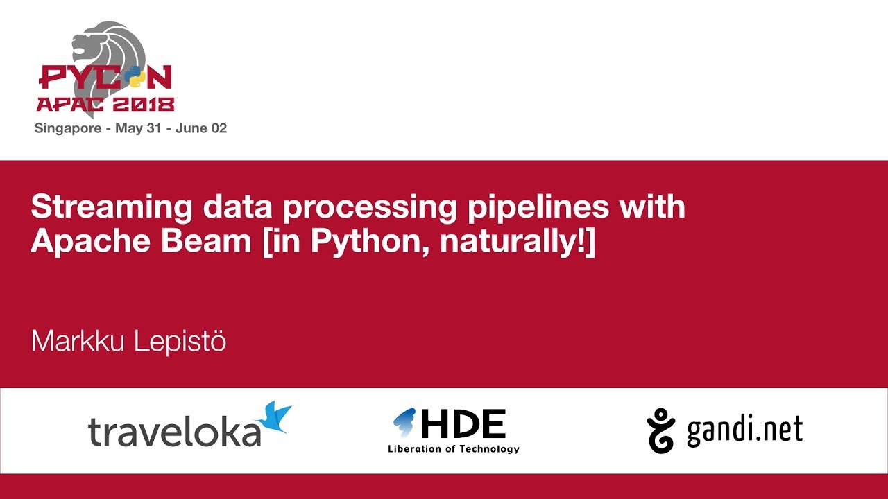 Image from Streaming data processing pipelines with Apache Beam [in Python, naturally!]