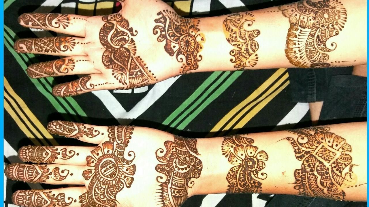 Bangle Mehndi Designs For Marriage Dulhan Mehndi Design
