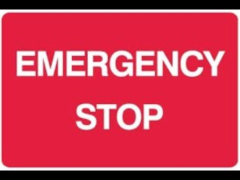 Learn how to do the emergency stop. Driving test