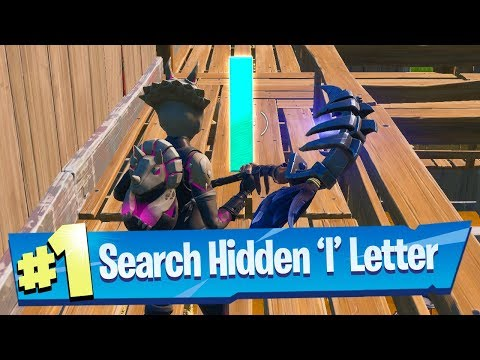 Search Hidden 'I' Found In The Hide And Seek Loading Screen - Fortnite Battle Royale