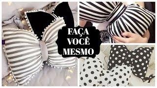 DIY – ALMOFADA DE LAÇO SEM COSTURA