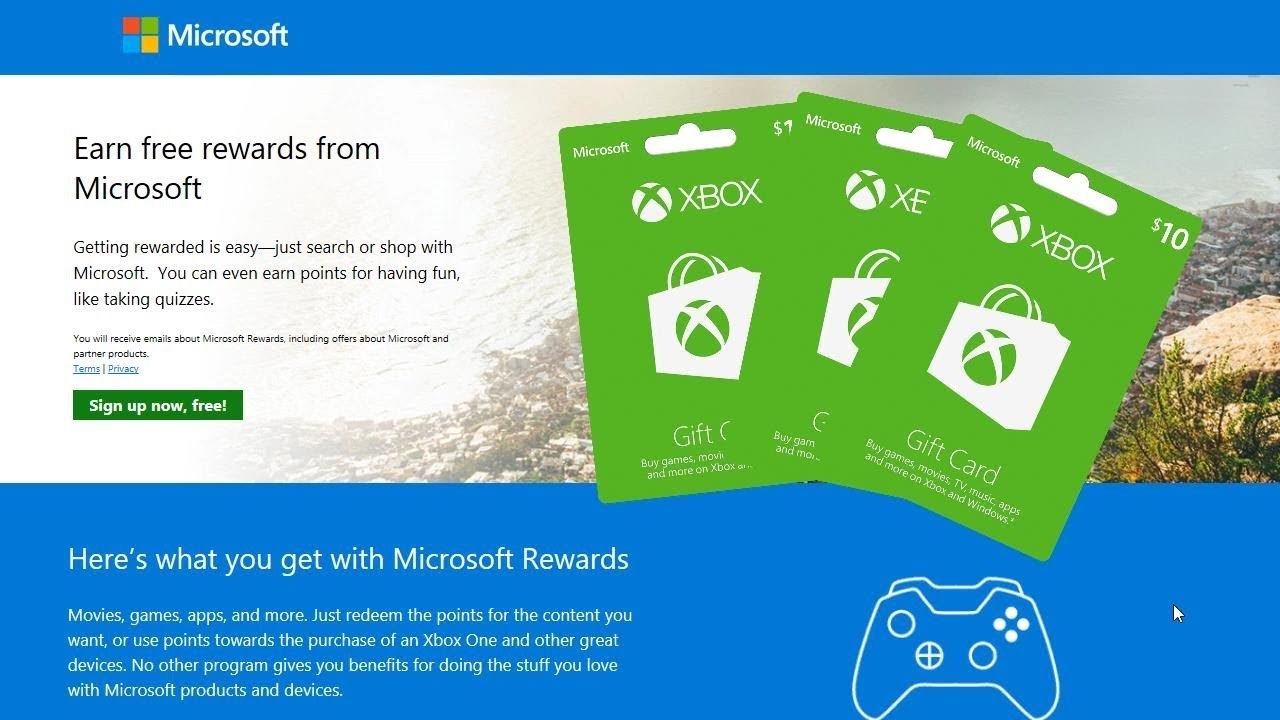 Microsoft rewards program