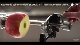 KitchenAid Spiralschneider 5KSM2APC - Thomas Electronic Online Shop