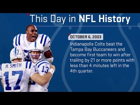 Colts QB Peyton Manning Leads Late Comeback to Shock Buccaneers | This Day in NFL History (10/6/03)