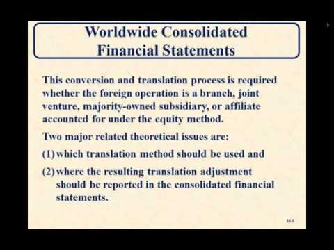 Advanced Accounting- Translation of Foreign Currency Financial Statements