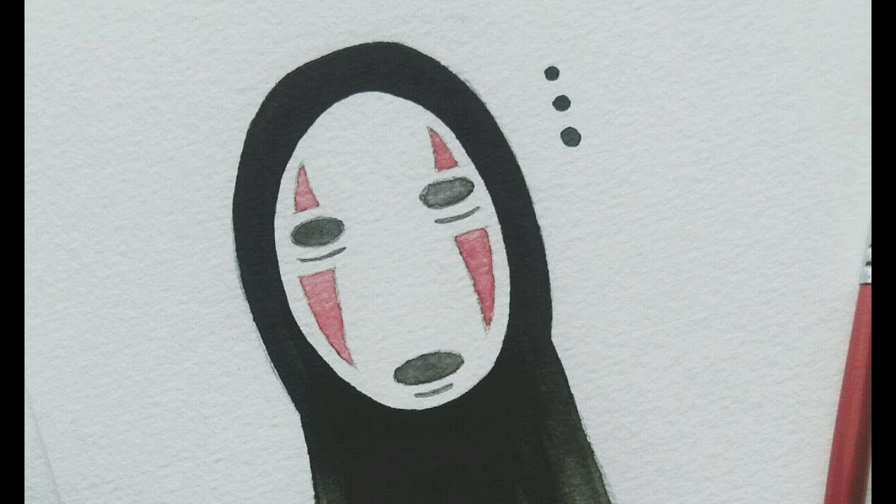 Spirited Away No Face Watercolor Process