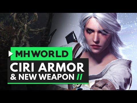 Monster Hunter World | Ciri Armor & New Weapon Overview