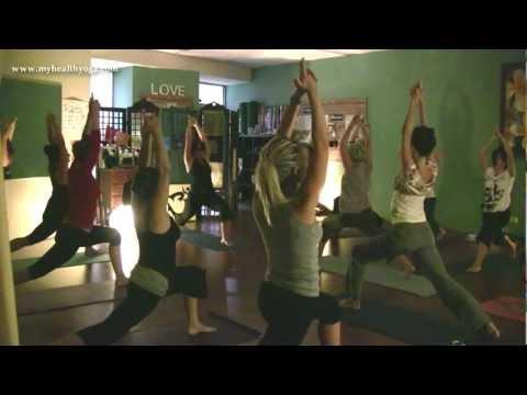 YOGA - Full 75min Vinyasa Class with Carrie-Anne Fields. My Health Yoga