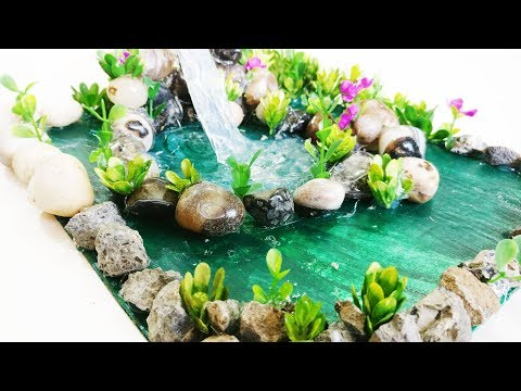 Hot Glue Waterfall Tutorial   Glue Waterfall   DIY Home decoration