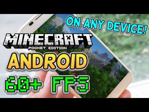How to make Minecraft PE (Pocket Edition) Run Faster on ANDROID! [60+ FPS]