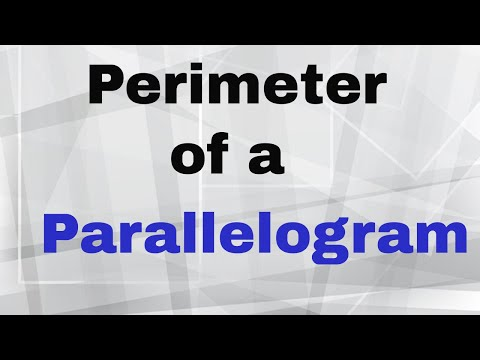 how to find the perimeter of a parallelogram