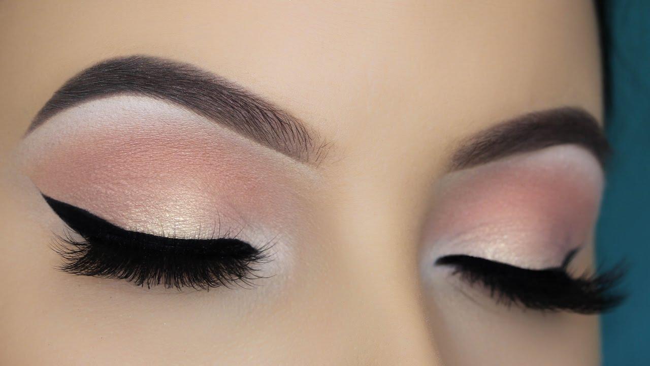 easy soft peachy eye makeup tutorial youtube