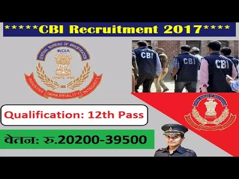 CBI | Central Bureau of investigation vacancy's-2017 |