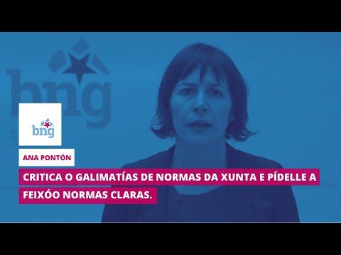 Ana Pontón critica o galimatías de normas da Xunta e pídelle a Feixóo claridade