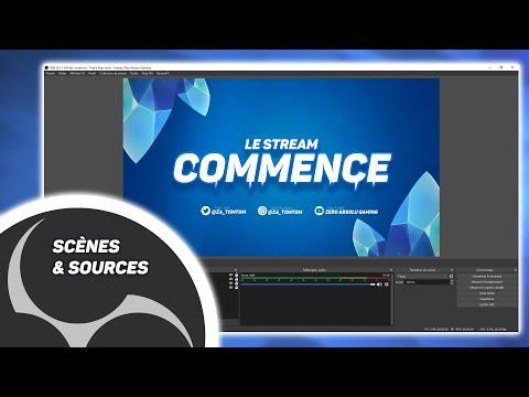 Tuto OBS Pour Débutant (1) Créer une Scène, Ajouter une Webcam, Installer un Overlay