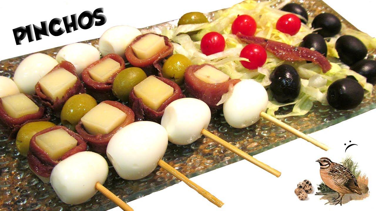 pinchos huevos cocidos codorniz