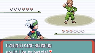 Pokémon Emerald - Pyramid King Brandon (Gold Symbol battle)