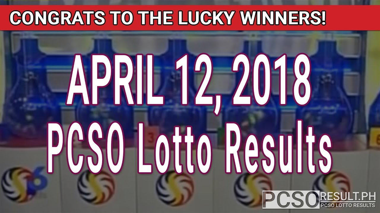 PCSO Lotto Results Today April 12, 2018 (6/49, 6/42, 6D, Swertres, STL & EZ2) - YouTube