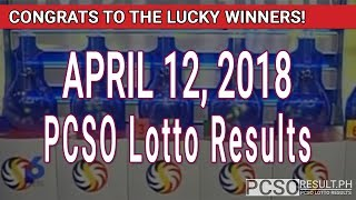 PCSO Lotto Results Today April 12, 2018 (6/49, 6/42, 6D, Swertres, STL & EZ2)