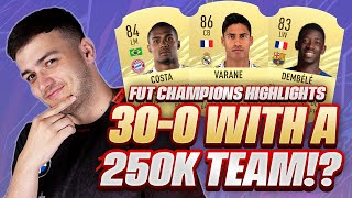 30-0 ON FUT CHAMPS w/ THE BEST META 250K TEAM!! FIFA 21 PRO PLAYER SQUAD BUILDER 📉💰