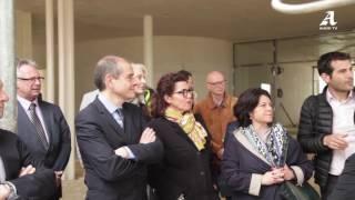 Visite du chantier du futur collège de Lézignan-Corbières