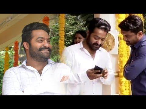 Jr NTR and Kalyan Ram Fun Moments @ Kalyan Ram New Movie Opening | TFPC