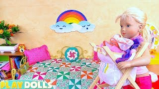 Petitcollin Doll House Cleaning & Laundry Toys